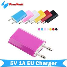 10 Colors 5V 1A EU AC Travel USB Wall Charger for iPhone 5 4 4S Samsung Galaxy S2 S3 S4 HTC Cell Phones Adapter(China (Mainland))