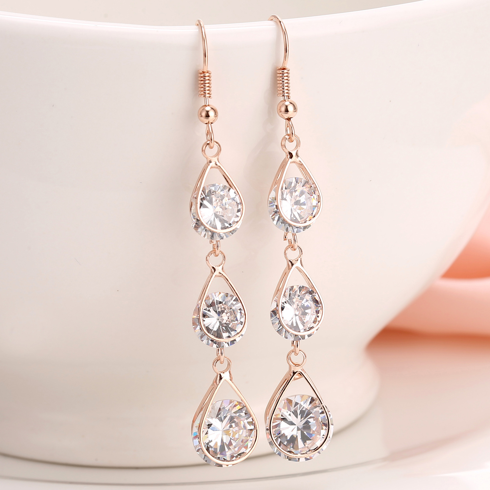 Awesome Aliexpresscom  Buy Women Fashion Earring Gold Plated With White