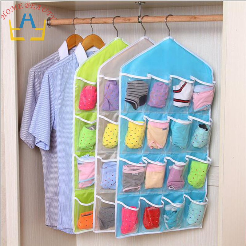 New Brand Household Storage Bag Set For Underwear Bra Sock Tidy Organizer Pouch Suitcase Home Closet Divider container FH148(China (Mainland))