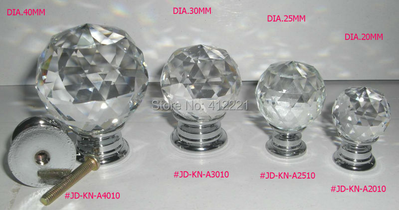 Free Shipping Mixed Crystal Cut Faces knob and diamond handle In Silver / gold for Furniture Door Drawer from China factory 2015(China (Mainland))