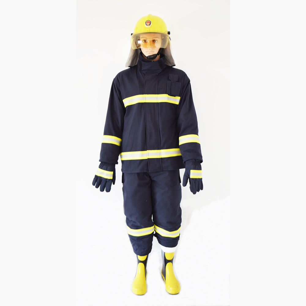 Sale As One Set(Including Fire helmet gloves belt boots)Cotton Fire Fighting Suit for Fireman