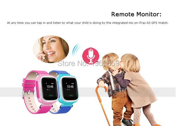 Купить Gps трекер дети часы детские gsm gprs agps помещении личный браслет наручные часы gps устройства слежения для детей анти похищение