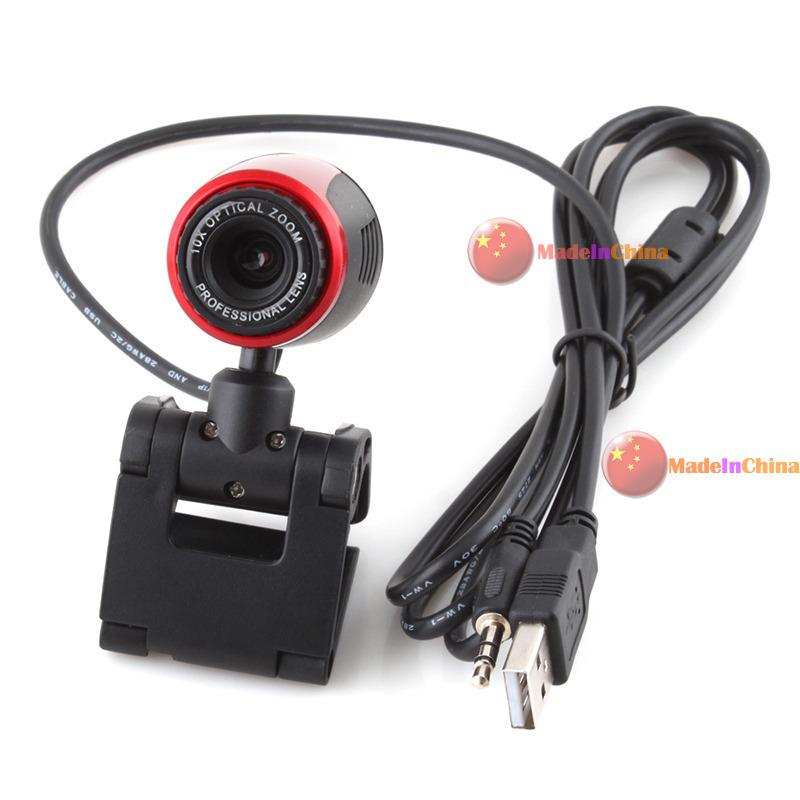 MadeInChina Newest classic USB 2.0 Clip WebCam Web Camera 10X Optical Zoom w MIC Microphone for Laptop PC Fashionable!(China (Mainland))