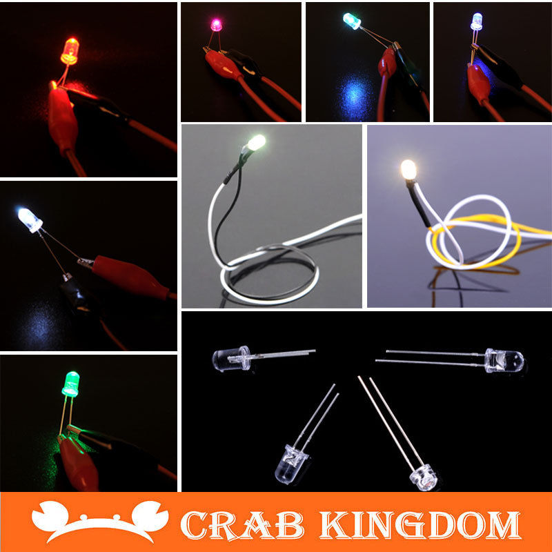 LED Round Light-emitting diode Mixed Color 6 kinds *1blue red white multicolor Warm White Cool 60 pcs/lot - pangxie store
