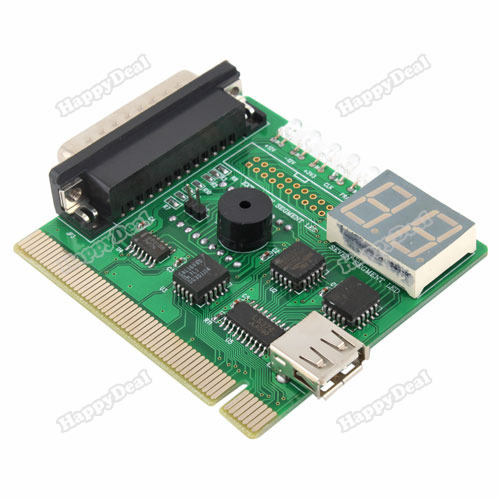 happydeal 2 Digit USB LPT PCI Laptop PC Analyzer Tester Post Card wholesale(China (Mainland))