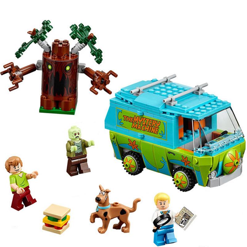 Bela Máquina Scooby Doo Mistério Ônibus Minifigures Bloco de Construção de Brinquedos Minifigure 10430 Compatível Com Lego P029 Aniversário(China (Mainland))