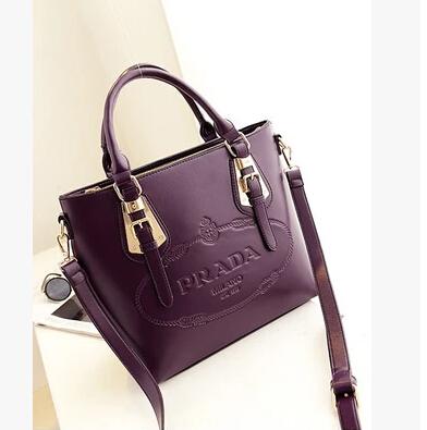 Hot hight quality Fashion famous brand name pra shoulder purses bags for women 100% genuine leather designers women handbags(China (Mainland))