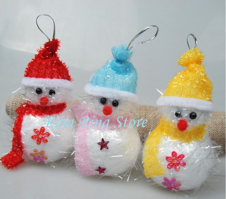 10cm belt bell foam snowman hangings ornaments Christmas tree baubles decoration supplier 10pcs/lot(China (Mainland))