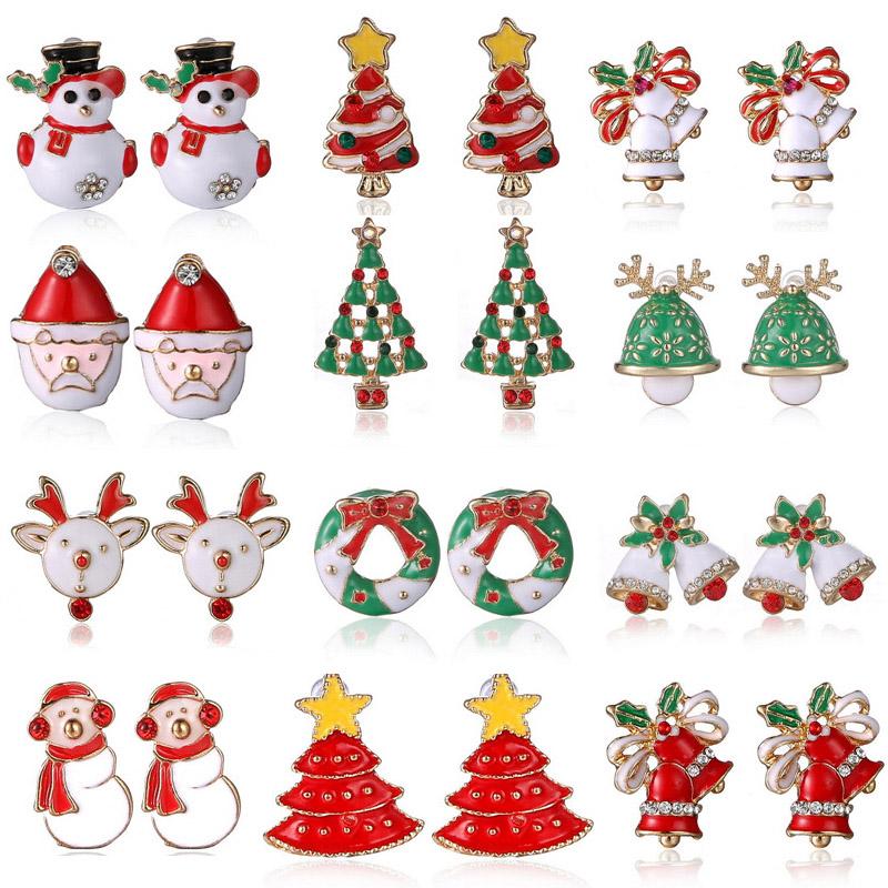 New Fashion Women Santa Claus Snowman lovely Tree Bell Christmas Jewelry Christmas font b Earring b