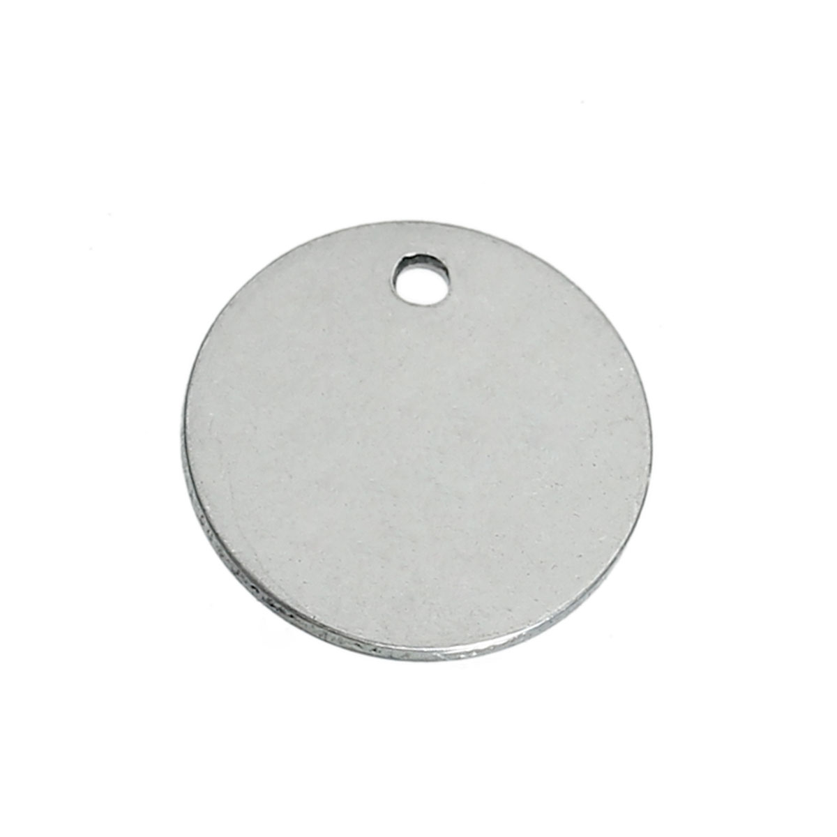 """Stainless Steel Blank Stamping Tags Charms Pendants Round Silver Tone 15mm( 5/8"""") Dia,20 PCs 2016 new(China (Mainland))"""