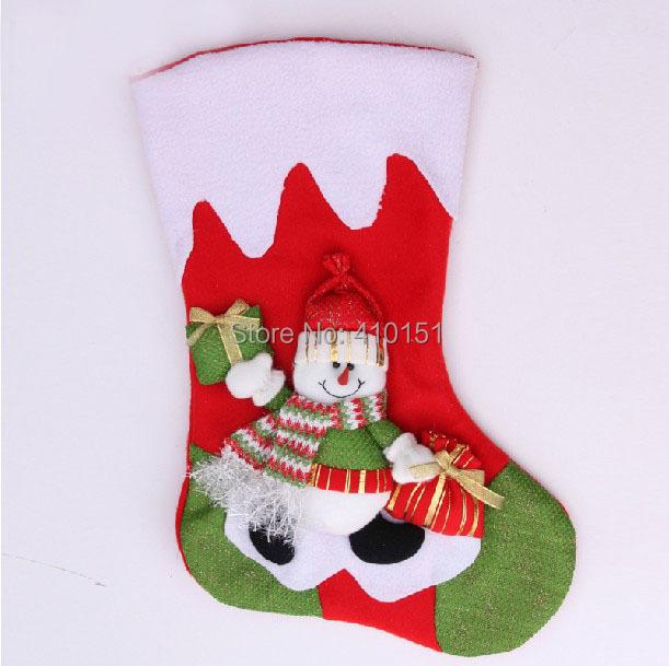 2014 Hot!!50pcs Christmas articles 44cm market hotel hanging socks Christmas hanging drop for Christmas 2 designs(China (Mainland))
