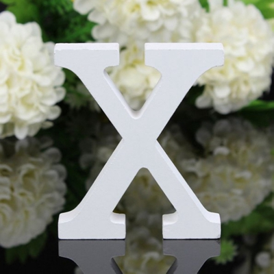10 letters white minimalist modern alphabet wooden carved figure furnishing articles
