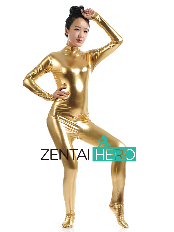 ZentaiHero Sexy Unicolor Fancy Dress Lady Tight Shiny Metallic Zentai Catsuit Bodysuit For Woman Jumpsuit Leotard SM1458 (6)
