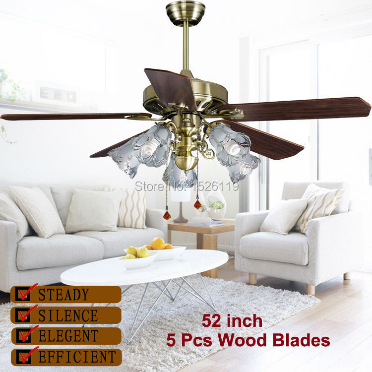 52 inch living room decoration led ceiling fan light