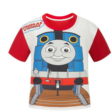 Thomas Train Clothing Kids Clothes Boys T Shirt Summer Kids T-shirt Girls Tops Thomas And Friends Clothes Roupas infantis menino