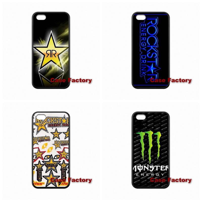 best cases Rockstar Energy Logo For Sony Z1 Z2 Z3 Compact BlackBerry 8520 9700 9900 Z10 Q10 Samsung S4 S5 S6 Active Win S Duos2(China (Mainland))
