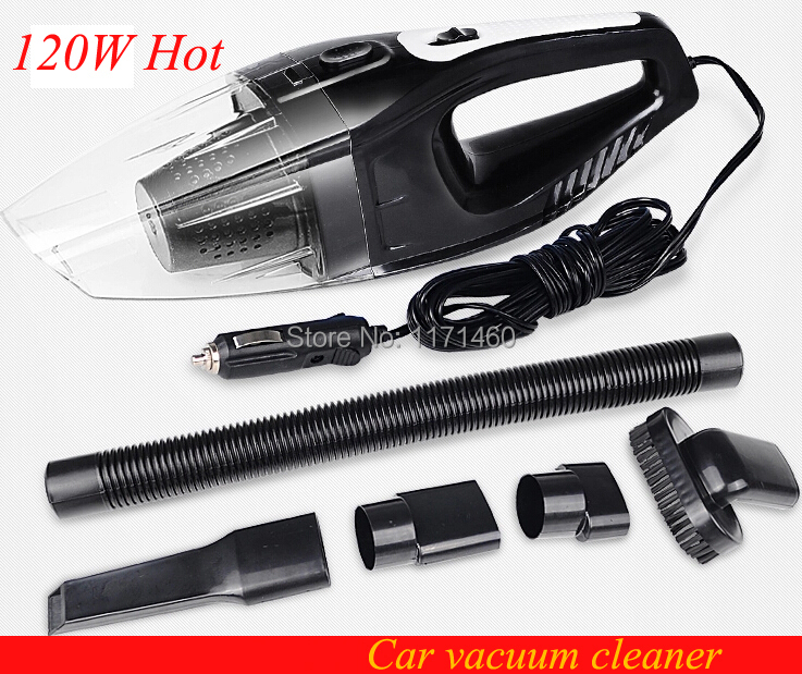 High power 120W 12V Super Suction Mini Wet and Dry Portable Handheld Car Vacuum Cleaner Black MKS-1800 Free Shipping(China (Mainland))