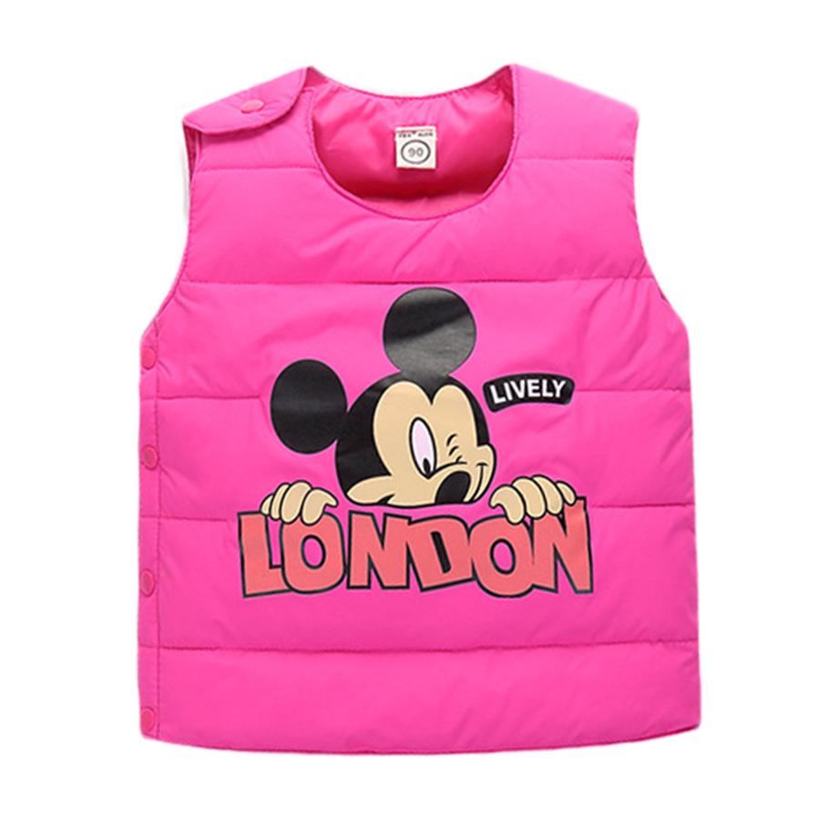 2016 Mickey Vest Baby Children Clothing Winter Outerwear & Coats Princess Girls Vest Kids Jackets Warm Baby Girls Waistcoatt(China (Mainland))