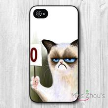 For iphone 4/4s 5/5s 5c SE 6/6s plus ipod touch 4/5/6 back skins mobile cellphone cases cover Funny Grumpy Cat Score Card Zero
