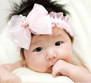3Colors FREE SHIPPING Girls hair band accessories Big Bow hair band baby headdress infant headbands fabric flowers 2pcs/lot A063(China (Mainland))