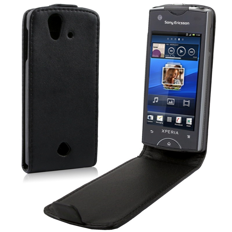 High Quality Leather Case for Sony Ericsson Xperia ray ST18i(China (Mainland))