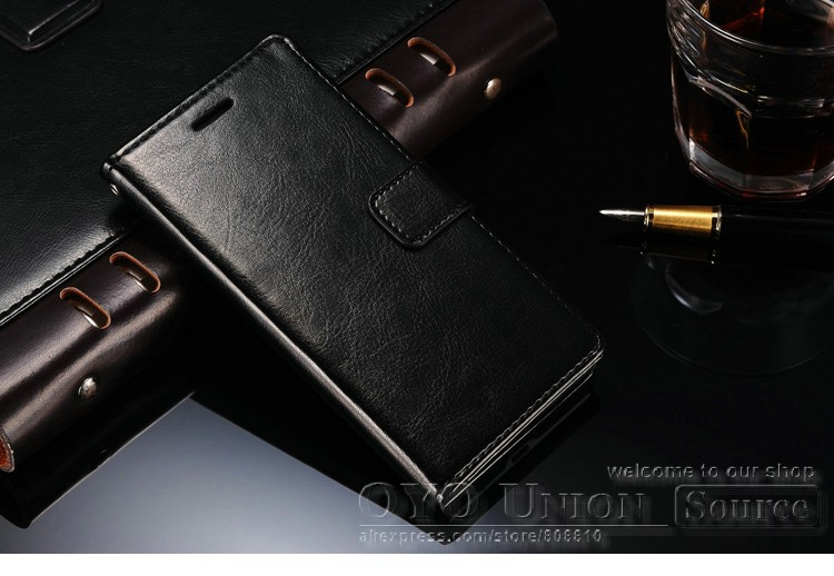Luxury Wallet Style PU Leather Case for Huawei Ascend P7 Phone Covers With Stand +3 Card Holders+ 1 Bill Side Drop Ship