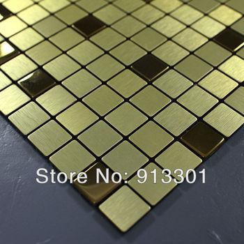 stainless steel tile sheets F9101 aluminum brushed metal mosaic tile backsplash kitchen wholesale tiles design art deco mesh