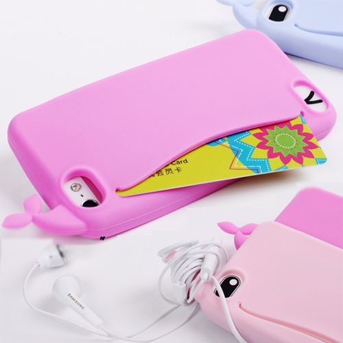 3D Silicone Soft Case for iPhone6 4.7 inch Big Mouth Whale Cartoon Rubber Phone Cover for iphone6 Capa Funds Case(China (Mainland))