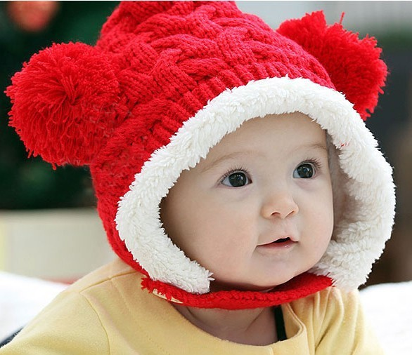 Manufacturer Wholesale Princess New Children Wool Hat Baby Knitted Hat(China (Mainland))