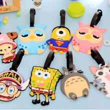 8 Designs/New Cute Cartoon Doll design Silica gel Luggage tag/sweet card bag/wholesale(China (Mainland))