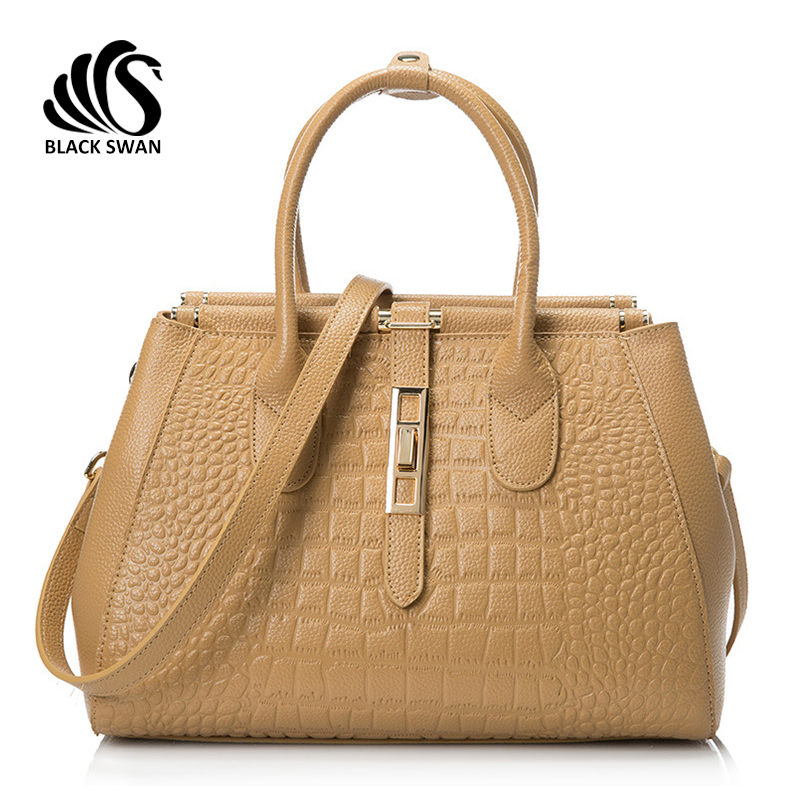 2015 Crocodile Real Cowhide Genuine Handbags Leather Metal Tote Women Business Alligator Vintage Messenger Cross Body Bags Lady(China (Mainland))
