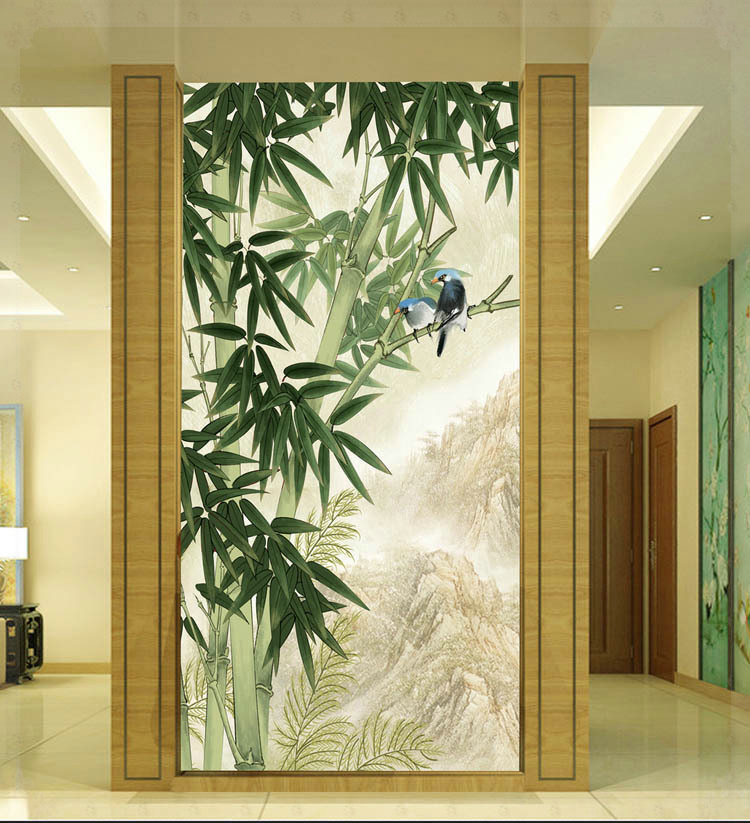 Design 3 d large sitting room the bedroom room bamboo corridor maple mural wallpaper background picture electric mixer(China (Mainland))