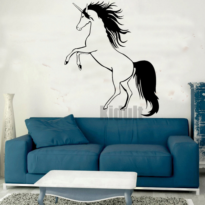 Hot & Home Decor Wall Sticker Creative unicorn animal pattern wall stickers vinyl wall decals many colors wholesale