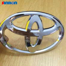 toyota corolla rav4 Newest Chrome ABS Front car logo badge rear emblem sticker FOR Vios Reiz YARIS CAMRY AURION