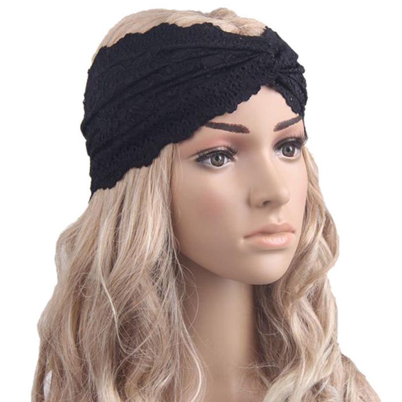Best Deal Fashion Women Headwear Twist Sport Yoga Lace Headband Turban Headscarf Wrap 1pcs(China (Mainland))