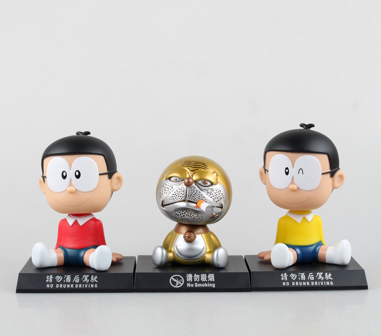 High quality!!Japanese Anime Shaking his head doll Doraemon car action figure Furnishing articles toy gifts(China (Mainland))