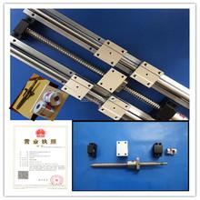 2 Linear rali SBR16-500mm +4SBR16UU +1605 Ballscrew 500mm end machined+ BK/BF12 Support CNC rm1605-c7 - Hardware Daquan store