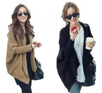 2014 Fashion Women Cardigans Knitted Loose Batwing Sleeve Medium-long Vintage Outerwear Ladies Sweater Blusas De Inverno WZL045