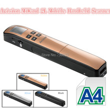 Avision MiWand 2L Mobile Handheld Scanner A4 Cordless Portable Handheld Scanner 900DPI Bookedge Design (China (Mainland))