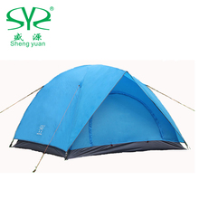 High Quality Outdoors Waterproof Windproof Camping Double Tent 2 4 Person PU Adhesive Carpa 4 Estaciones For Fishing Picnic(China (Mainland))