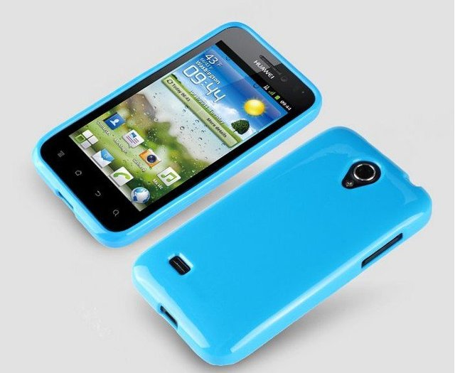 Christmas Gift Blue Protective Soft TPU Gel Back Case For Huawei U8825D Ascend G330 Cell Phone Cover 5 color free shipping
