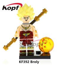 Única Venda De Dragon Ball Z Figuras Super Heróis Mr. Satan Freiza SSJ3 Kid Goku Modelo de Blocos de Construção de Brinquedos Para Crianças Presente KF8023(China)