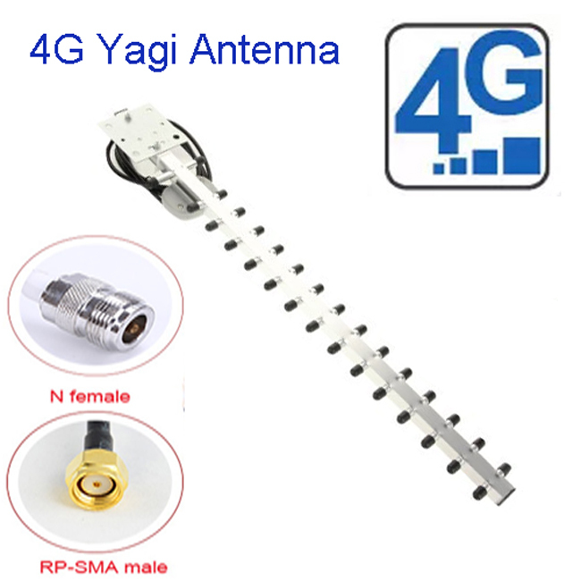 4G Yagi Outdoor Antenna 25dbi SMA Male Connector for 4G USB Modem Signal Booster Repeater(China (Mainland))