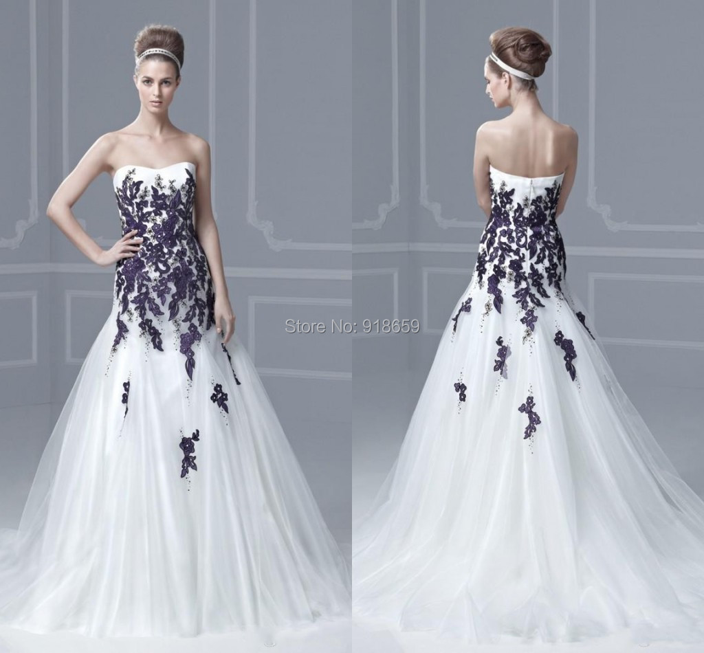 Purple White Dress Wedding Dresses Promotion-Shop for Promotional ...