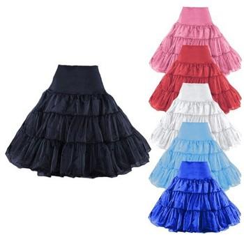 """26"""" 50s Retro Underskirt Swing Vintage Petticoat Fancy Net Skirt Rockabilly Tutu"""