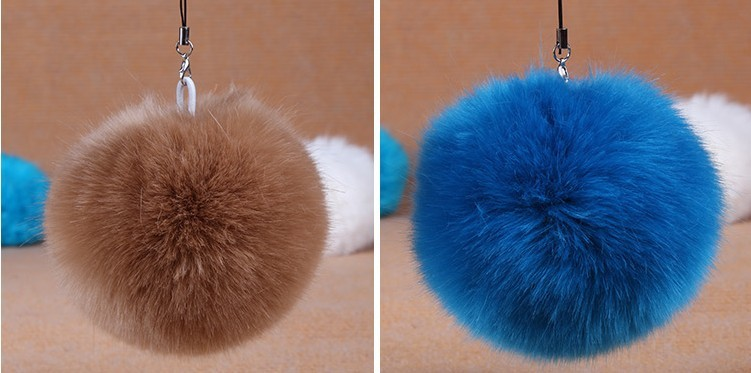 Cute! Good quality 10pcs DIY fake fur balls D10 for beanies hatskeybagsknited capiphone faux fur pompoms free shipping (8)