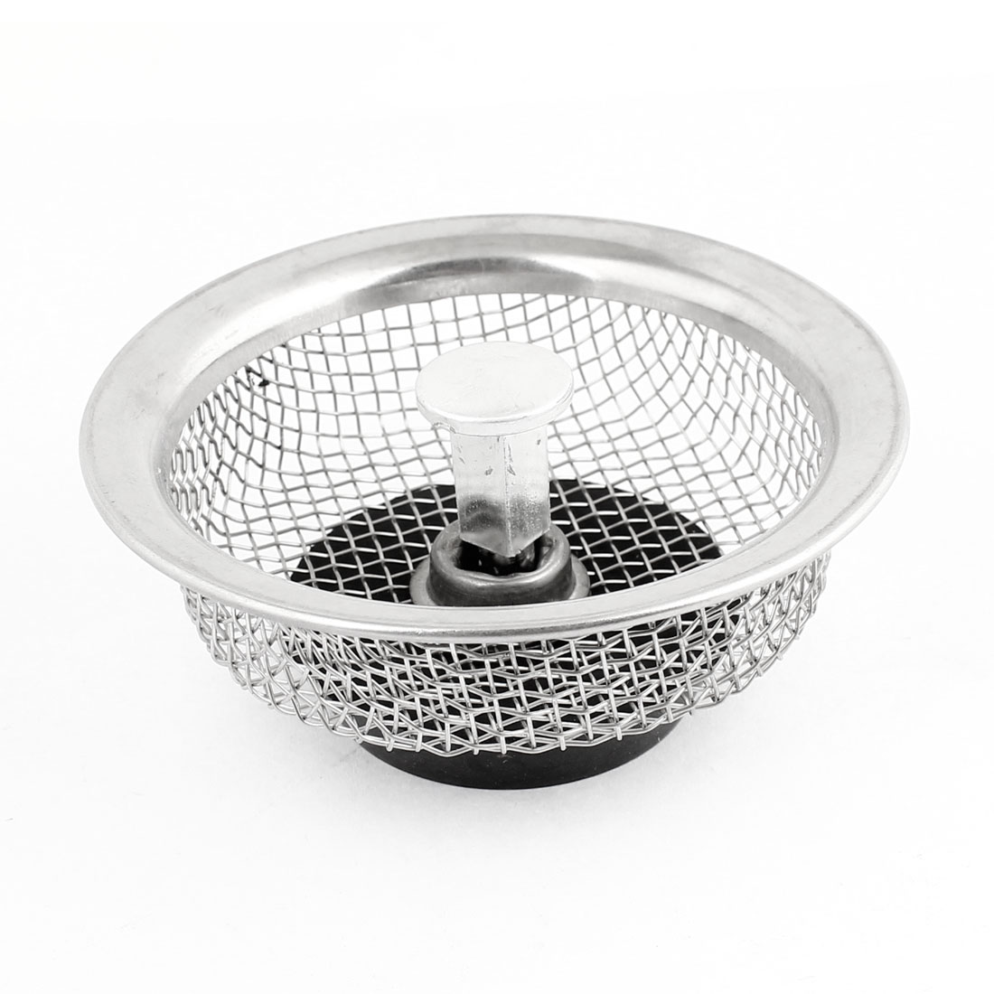 Home Kitchen 84mm Dia Silver Tone 3X3mm Mesh Hole Basin Strainer<br><br>Aliexpress