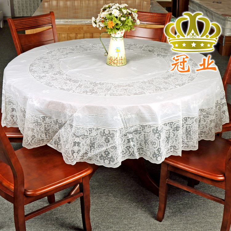 High Quality Wedding Tablecloth 4 Color 3 Size PVC Printed Floral Round Table Cloth Table Cover Free Shipping(China (Mainland))
