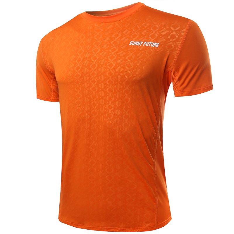 Men Outdoor Sports Running Quick-drying Stretch T-shirt Summer Short Sleeve Tops Hot YX(China (Mainland))