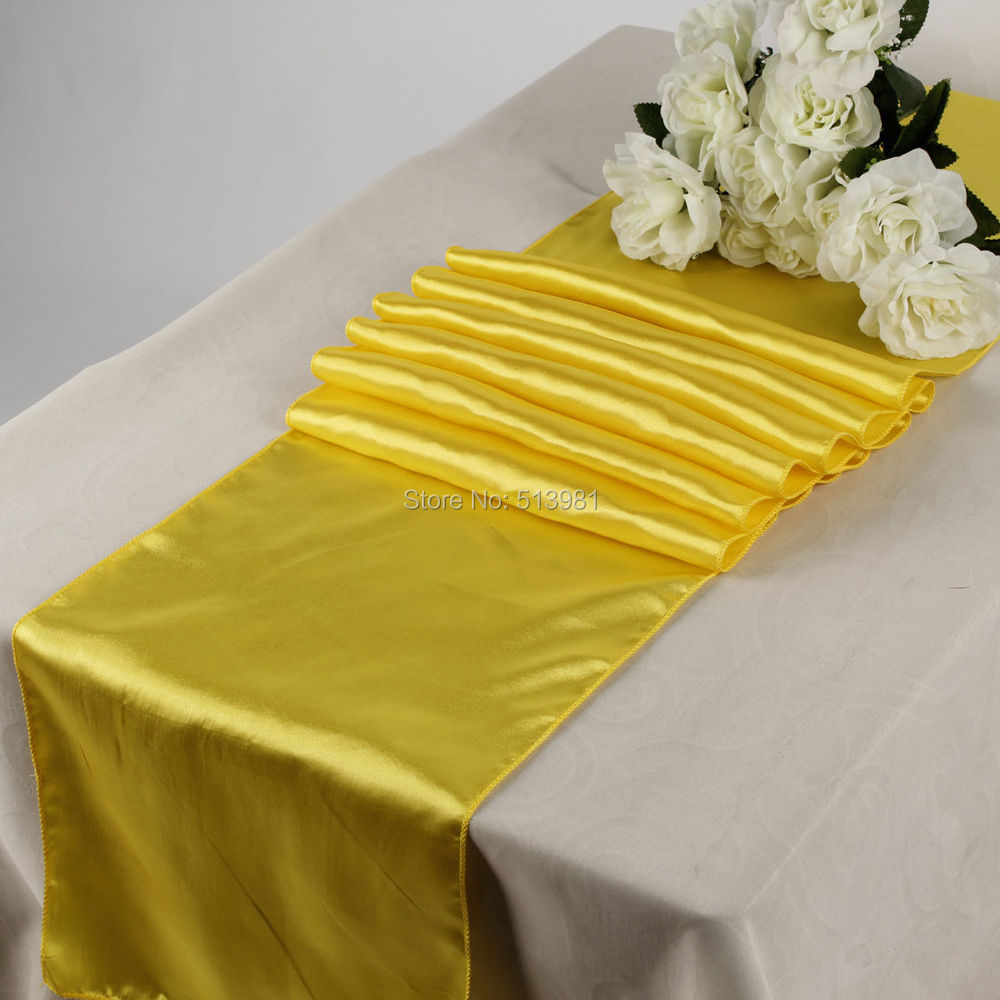 """High quality 15PCS 30*275cm 21 colors Satin Table Runners 12"""" x 108"""" Wedding Party Decorations(China (Mainland))"""